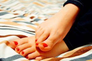 manicured feet